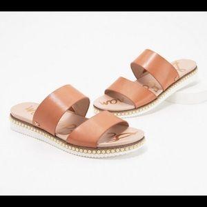 NWT Sam Edelman Asha Leather Slide Sandals